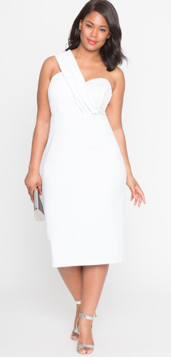 Eloquii white dress