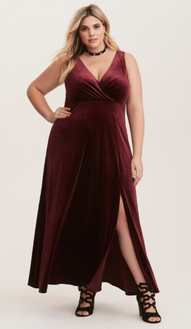 Torrid Velvet Red Dress