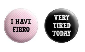 I Have Fibro Button Duo