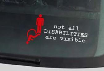 Invisible Illness Car Placard