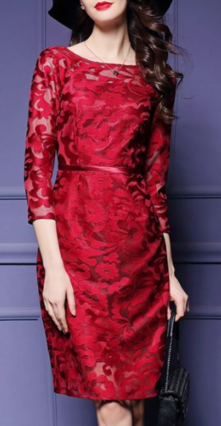 Paisley Satin Red