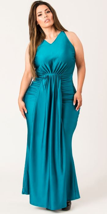 Satin Ruched Teal
